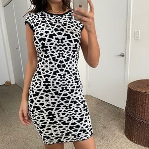Torn by Ronny Kobo printed bodycon dress - FLAW